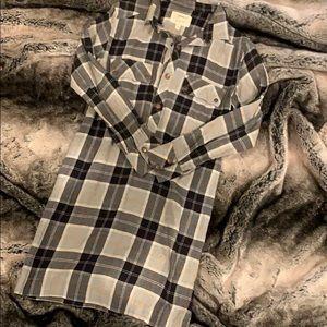 Current Elliot Lara Plaid Shirt Dress